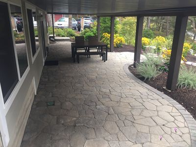Lower patio