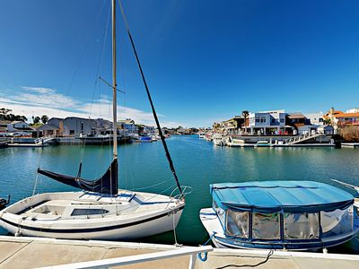 Photo for 4BR w/ Sundeck Right on Channel Island Harbor, Private Dock, Walk to Beach