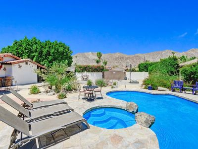 Photo for Desert Daydream! High-Class Hacienda w/ Lagoon-Style Saltwater Pool & Spa