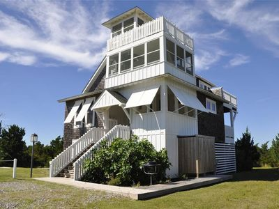 Photo for Blue Skies:  Close to Ocracoke's beaches, panoramic views from decks.