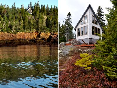 The Prowhouse overlooks Howard Cove and is surrounded by 40+ acres of forest.
