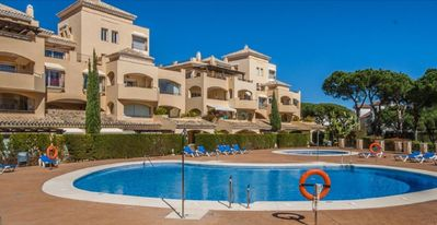 Photo for Luxurious ground floor apartment in Elviria, Marbella. Beach. Pool. Ideal for golfers