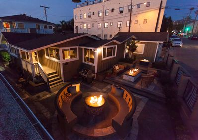 Aerial view of 150 Cress and fire pit