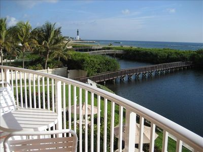 Balcony, Lagoon, Bridge to Ocean, Lighthouse