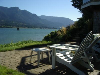 Spectacular waterfront patio - your front row seat to watch all the activities!