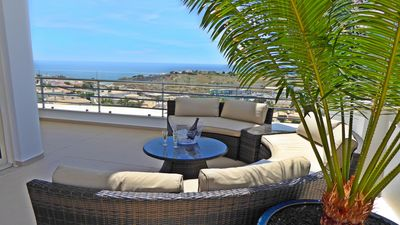 Photo for Luxury Penthouse Apartment First Row Sea Views near Old Town Albufeira & Marina