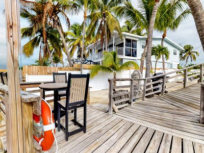 Photo for Waterfront retreat w/ separate cottage,  outside patio area, pier & water views!