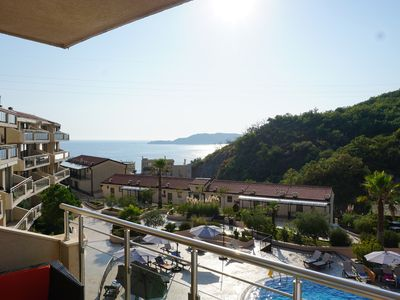 Photo for Stunning Views- Stylish 2 bd/2bth rental in picturesque Przno-Sveti Stefan