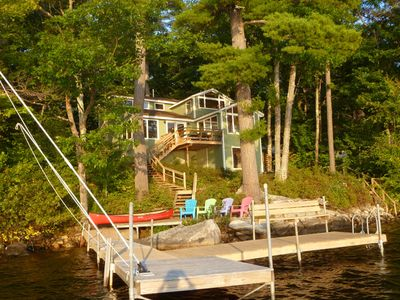 Photo for Long Lake Waterfront, Harrison,  Sleeps 8, Sunsets, Swimmimg