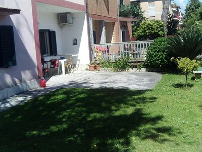 Photo for Ground floor apartment with large garden in Lavinio mare (Anzio)
