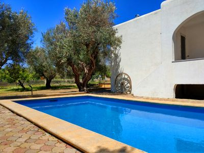 Photo for Cozy villa with pool among olive trees