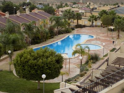 Photo for Two Bedroom Apartment, Aircon, WiFi, Communal Pool, Satellite TV, fantastic view