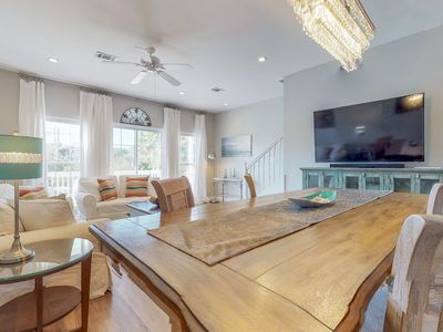 Photo for NEW LISTING! Dog-friendly townhome w/shared pool/hot tub/tennis - walk to beach