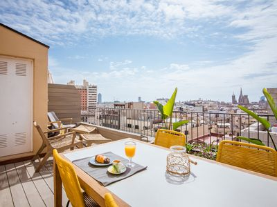 Photo for Central penthouse with terrace Placa Catalunya III