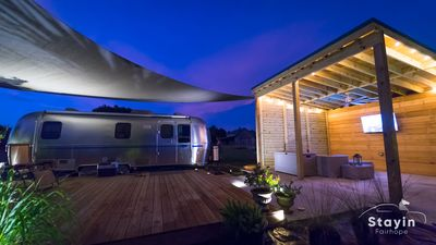 Photo for Silver Sail Airstream* Beyond Glamping* Much Room to Roam Wifi EV charger 20 ac
