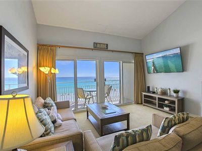 Photo for Crystal Sands 307B - Updated Gulf Front Condo, Community Pool, Beach Service!
