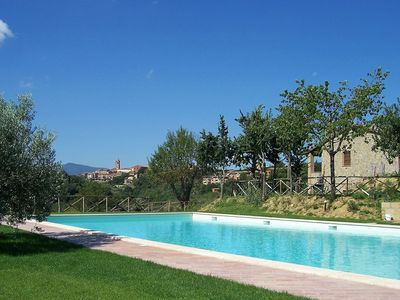 Photo for Beautiful apartment in villa for 6 guests with WIFI, pool, TV, pets allowed and parking