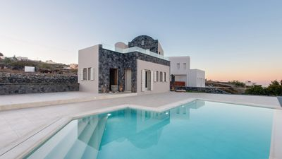 Photo for ICONIC LIVING. Amarina Luxury Villa in Santorini 2br upto 6guests private pool