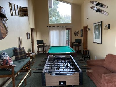 Full Upstairs Living Room dedicated to the Game Room