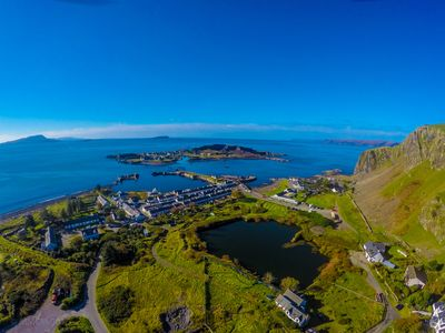 View of Ellenabeich and Easdale Island
