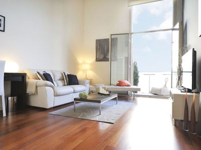 Photo for Duplex Style  apartment in Eixample Dreta with WiFi, air conditioning, balcony & lift.