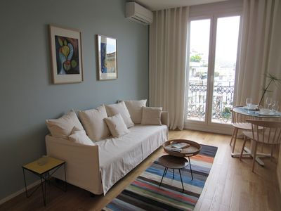Photo for 2 charming rooms last panoramic floor balcony view city / sea renovated in 2016