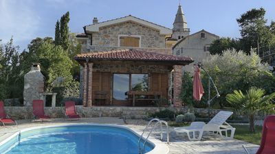 Photo for Traditional stone house with swimming pool for 6+1 persons