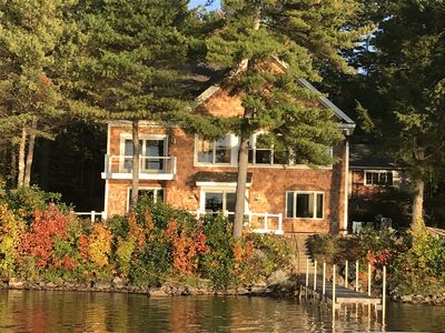 This is the house from the water.  We will be staying upstairs.