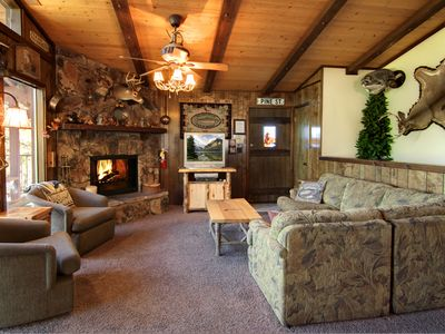 Photo for Near the Village with a Lake View, Pet Friendly, Hot Tub, Family Friendly!