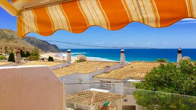 Photo for Beautiful 3-bedroom townhouse in Praia da Luz, with spectacular ocean views.