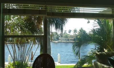 Photo for COZY APARTMENT OVER THE INTRACOASTAL CANAL, ONE BLOCK TO THE BEACH, WATER VIEWS