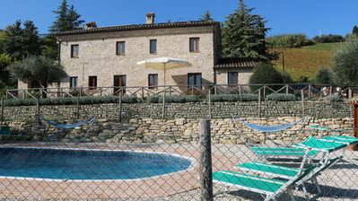 Photo for Stylish eco holiday home with private pool set in vineyards with panoramic views