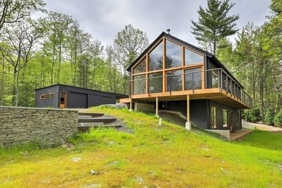 This gorgeous vacation rental is tucked away on 12 private acres.