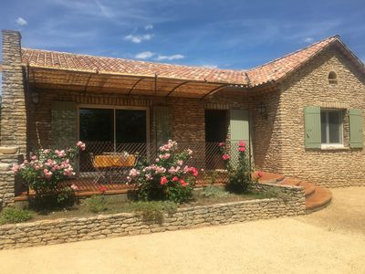 Photo for Pretty stone house with private heated pool in St Saturnin les Apt 8 pers