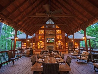 Photo for Copper Spa Lodge (Sleeps 14, 3 Masters, 1 Bunk Room, Games, Wet Steam Room)