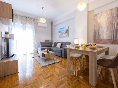 Photo for Deluxe furnished apt in central Athens