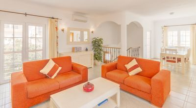 Photo for Spacious Linked Villa, Poolside location, Free WIFI, Air con throughout