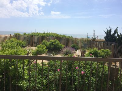 Photo for North OC 1st floor Beachfront condo with huge oceanfront deck.