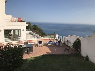 Photo for Beautiful Villa with Ocean Views,  great outside areas and Large Pool. Fully AC