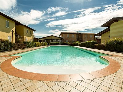 Photo for Manerba del Garda Apartment, Sleeps 5 with Pool and Air Con