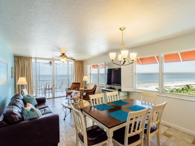 Photo for Overlook Matanzas Pass and Gulf of Mexico with Double Balconies! Luxury Beachfront Condo
