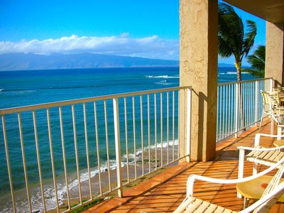 Photo for Beachfront Corner Unit! Fabulous Views! Wraparound Lanai!