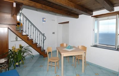 Photo for Amazing sea view house with furnished terrace