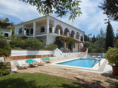 Photo for Spacious 5 bedroom 5 bathroom family villa with spectacular views to the sea
