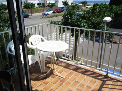 Photo for Homerez last minute deal - Nice studio with sea view and balcony