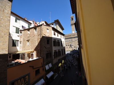Photo for Lovely flat located in the heart of Florence with a nice view on Palazzo Vecchio
