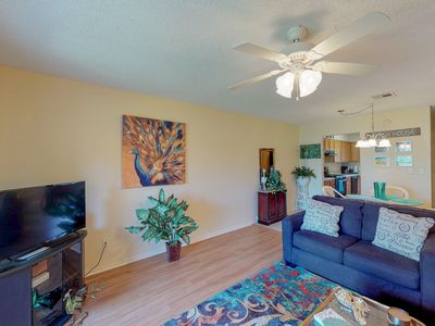 Photo for NEW LISTING! Bright retreat w/shared pool, tennis & near the beach