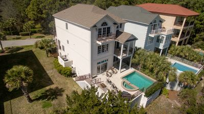 Photo for Oceanview, Private Pool, Elevator, Breathtaking Ocean & Marsh Views!!