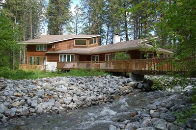 Cross the creek to this wonderful mountain home.