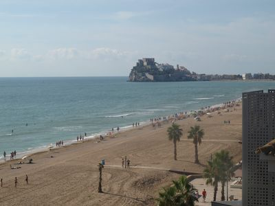 Photo for Apartment Moli de Vent unobstructed view of the terrace and castle